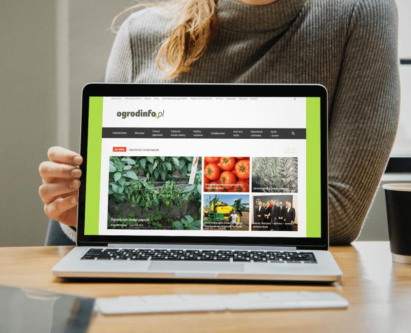 portal ogrodinfo.pl na WordPress
